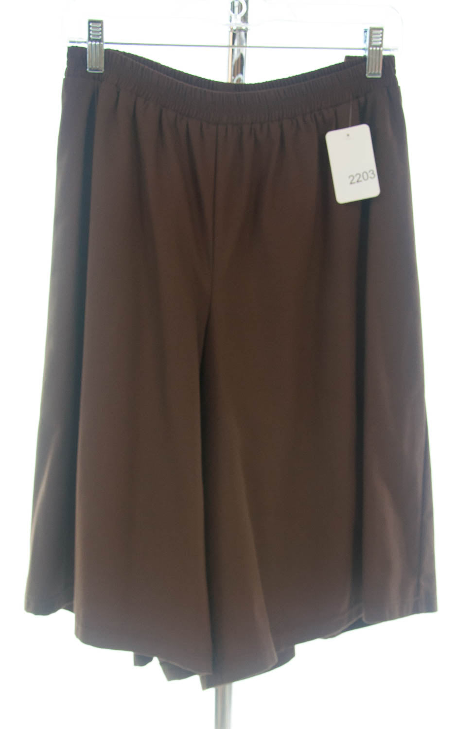#2203 Sale Rack Item / Walking Culottes / Womens Plus Size 26 / Brown Cotton