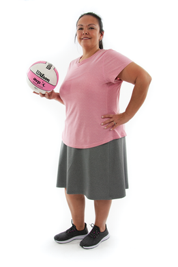 Athletic Exercise Skirt for Womens Plus Sizes by Dressing For His Glory  Athletic Exercise Skirt for Womens Plus Sizes by Dressing For His Glory is perfect for all team sports. It is made with performance sport fabric that keeps you dry. Bike shorts are attached to the waistband of the skirt and has an optional zipper pocket. The Athletic Exercise Skirt has a smooth flat elastic waistband and is great for any sport activity!