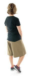 The Athletic Running Culotte for Ladies Sizes by Dressing For His Glory is great for all team sports. It is made with performance sport fabric that keeps you dry and comfortable. You will really like the straight cut leg with enough fullness for modesty. It has an elastic waist and sporty stripes down the side seams (optional white stripes).
