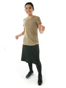 Athletic Exercise Skirt with Long Leggings / Girls Sizes