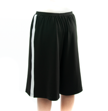 Load image into Gallery viewer, The Athletic Running Culotte is great for all team sports. It is made with performance sport fabric that keeps you dry and comfortable. You will really like the straight cut leg with enough fullness for modesty. It has an elastic waist and sporty stripes down the side seams (optional white stripes).