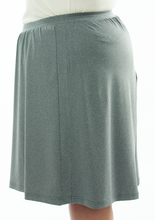 Load image into Gallery viewer, Athletic Two Pleater Culottes for Womens Plus Sizes (Side View) by Dressing For His Glory is perfect for all team sport activities. It is made with performance sports fabric that keeps you dry and comfortable. It has a straight cut with a smooth elastic waist and an optional zippered pocket.