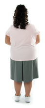 Load image into Gallery viewer, Athletic Two Pleater Culottes for Womens Plus Sizes by Dressing For His Glory is perfect for all team sport activities. It is made with performance sports fabric that keeps you dry and comfortable. It has a straight cut with a smooth elastic waist and an optional zippered pocket.