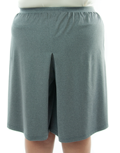 Load image into Gallery viewer, Athletic Two Pleater Culottes (Back View) for Womens Plus Sizes by Dressing For His Glory is perfect for all team sport activities. It is made with performance sports fabric that keeps you dry and comfortable.