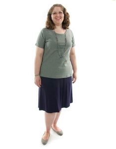Knit Skort / Womens Plus Size