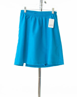 #2278 Sale Rack Item /  Swim Flare Skort / Girl's Plus Size 8 / Turquoise