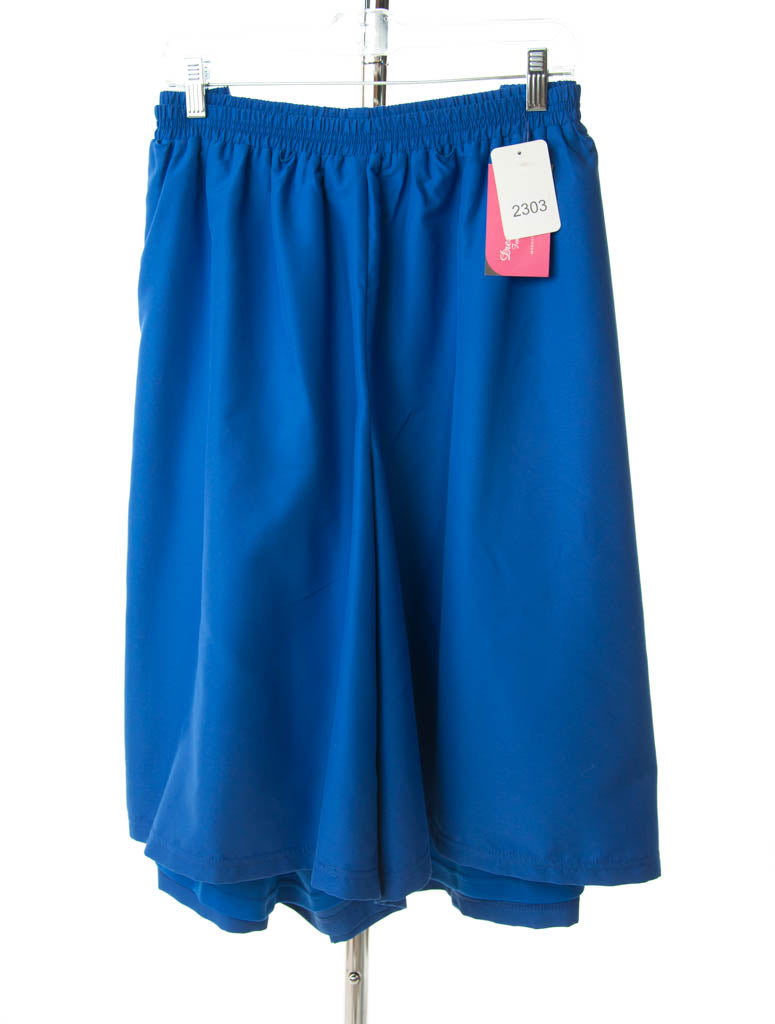 #2303 Sale Rack Item /  Swim Culottes / Womens 30 / Royal Blue