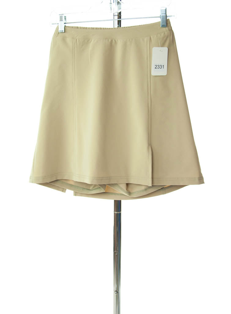 #2331 Sale Rack Item / Flare Skort / Girls Plus Size 8 / Khaki Summer Weight