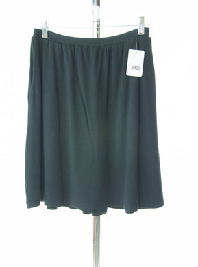 #2338 Sale Rack Item / Knit Skort / Petite Small / Black