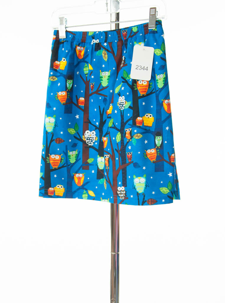 #2344 Sale Rack Item / Straight Skort / Girls 6 / Owl Print / Cotton