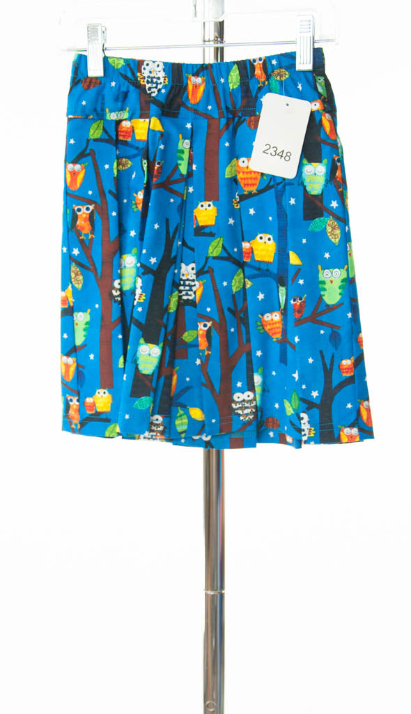 #2348 Sale Rack Item / Traditional Culottes / Girls 5 / Owl Print / Cotton