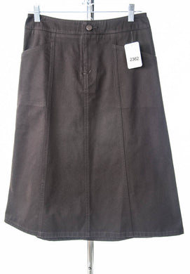 #2362 Sale Rack Item / Short Corneado Skirt / Tall Ladies 0 / Espresso