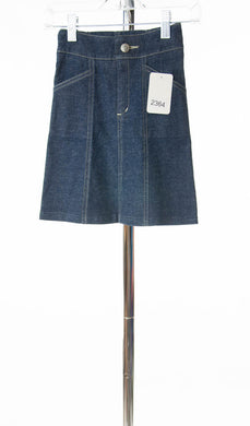 #2364 Sale Rack Item / Short Corneado Skirt / Girls Size 4 / Dark Denim Stretch