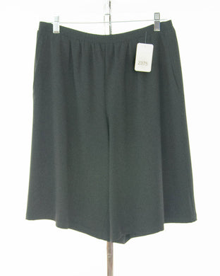 #2375 Sale Rack Item / Walking Culottes / Petite X-Large / Black