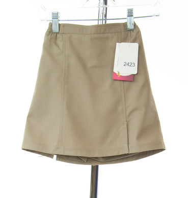 #2423 Sale Rack Item / Uniform Flare Skort / Girls 4 / Khaki