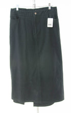 Load image into Gallery viewer, #2435 Sale Rack Item / Long Jean Skirt / Womens Plus Size 16 Black Twill / Second