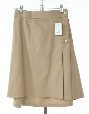 #2437 Sale Rack Item / Uniform Skirt / Womens 24 / Khaki