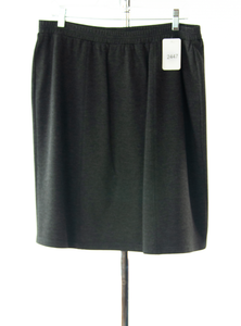 #2447 Sale Rack Item / Short Straight Knit Skirt / Petite 20 / Heather Grey