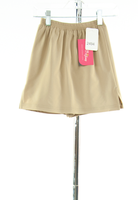 #2494 Sale Rack Item / Straight Skort/ Girls 5 / Khaki Summer Weight