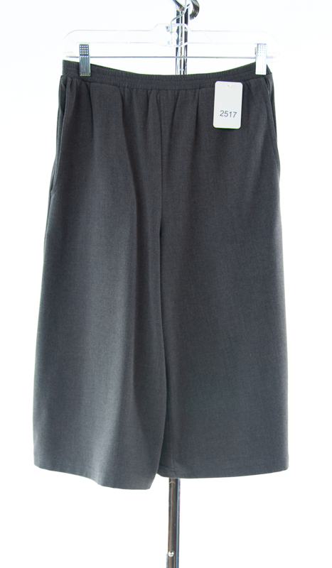 #2517 Sale Rack Item / Walking Culottes / Tall X-Small / Heather Gray