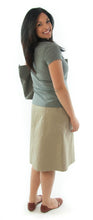 Load image into Gallery viewer, Short Corneado Skirt for Ladies Sizes by Dressing For His Glory  The Short Corneado (korneˈados) Skirt is a favorite of many!  It is a slightly flared skirt with a fly front, side panels and slit pockets. The skirt has a contour waistband that fits low on the hip. The skirt is also pre-washed so you do not have to worry about shrinkage. It is durable, and comfortable!