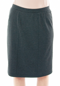 Short Straight Knit Skirt for Junior Sizes by Dressing For His Glory  You are going to love the feel and comfort of our Short Straight Knit Skirt. Made in a double knit fabric, it is great for fall, winter and even spring time weather. No more clinging to your stocking or tights since it is fully lined in a soft tricot fabric. It has a smooth elastic waistband and a small back slit. This skirt has a beautiful straight look without going all in at the hem. Easy to wear and wash!