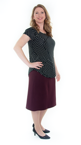 Short Straight Knit Skirt in Ladies Sizes by Dressing For His Glory  This is going to be the best knit skirt you will ever own! Enjoy the flattery of our pull on skirt in perfect Ponte fabric! You are going to love the feel and comfort of our New Short Straight Knit Skirt. It is made of a beautiful double knit fabric that is soft with substantial  body to keep its shape. It is great for fall, winter and even spring time weather.