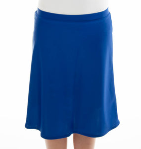 Freestyle Swim Skirt for Junior Sizes by Dressing For His Glory  Our Freestyle Swim Skirt is a great skirt to swim in. It is made in a chlorine resistant swimwear fabric that stretches with you and dries quickly! The skirt has bike short underneath and are attached at the elastic waist. The Freestyle Swim Skirt is great looking and keeps you cool and comfortable.