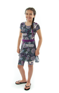 Swim Dress for Girls by Dressing For His Glory  Your daughter will absolutely love the Swim Dress in our Girls Sizes. It is made in chlorine resistant, fast drying swimwear fabric that is rated UPF 50+. Your daughter can just step into it from the neck and will feel free to swim or do those cartwheels on the beach!