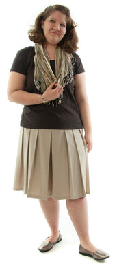 Traditional Culotte For Womens Plus Sizes by Dressing For His Glory  The Traditional Culotte has a bit more dressier look than any of our other culotte. It has pleats all around a drop yoke making it look like a skirt. It has an elastic waist and is very comfortable.