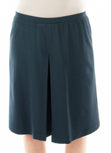 Load image into Gallery viewer, Front View: The Two Pleater Culotte for Junior Sizes by Dressing For His Glory is the most popular culotte that customers purchase for school activities. It has one pleat in the center front and one in the back. It has an elastic waist and is extremely comfortable!