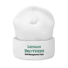 Load image into Gallery viewer, Lehman Brothers Risk Management Beanie