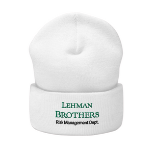 Lehman Brothers Risk Management Beanie