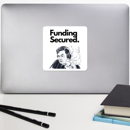 Funding Secured Bubble-free Sticker - wallstmemes