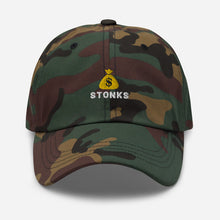 Load image into Gallery viewer, Money Bag Emoji Stonks Hat *Limited Edition*