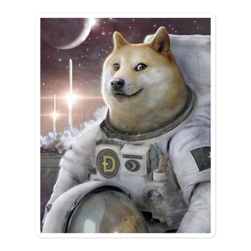 Doge Astronaut Sticker