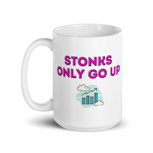 Stonks Only Go Up Mug - wallstmemes