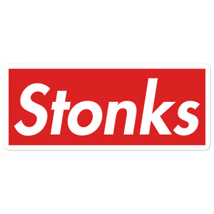 Stonks Bubble-free stickers