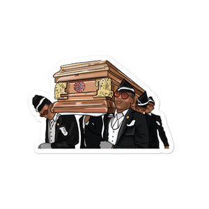 Coffin Dance Meme Coronavirus Bubble-free stickers - wallstmemes