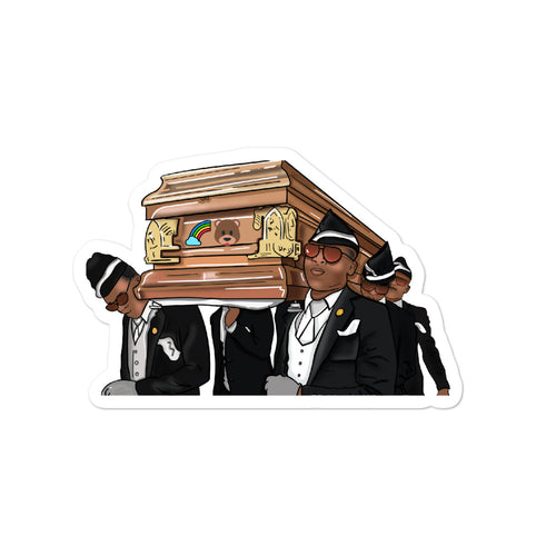 Coffin Dance Meme Bear Bubble-free stickers - wallstmemes