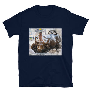 Bae Riding Wall St Bull T-Shirt - wallstmemes