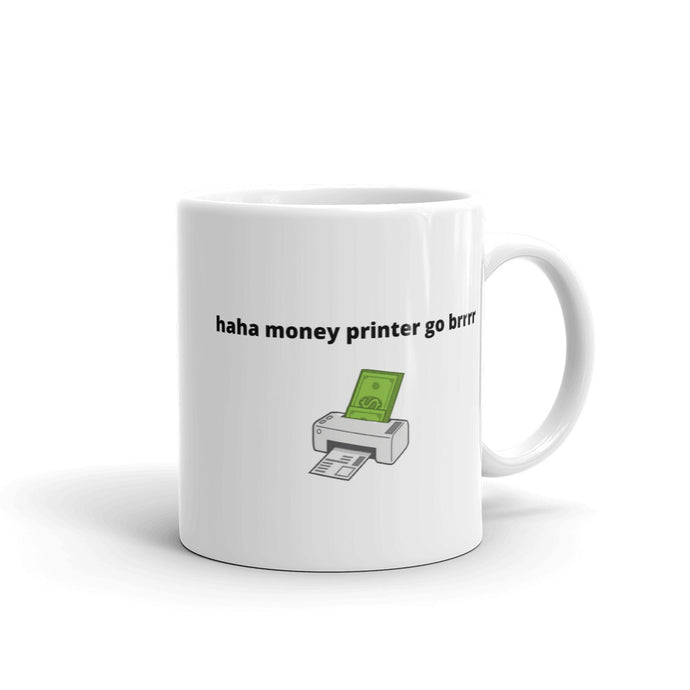 Federal Reserve Money Printer Mug - wallstmemes