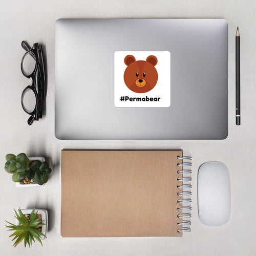 PermaBear Bubble-free stickers - wallstmemes