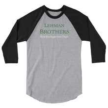 Load image into Gallery viewer, Lehman Brothers Risk Management 3/4 sleeve shirt