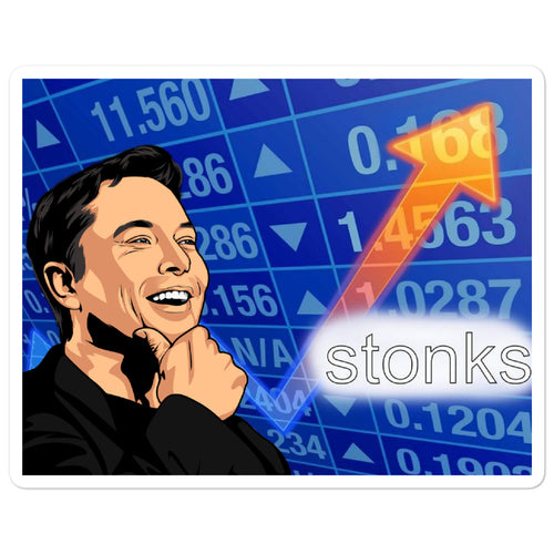 Elon Stonks Stickers