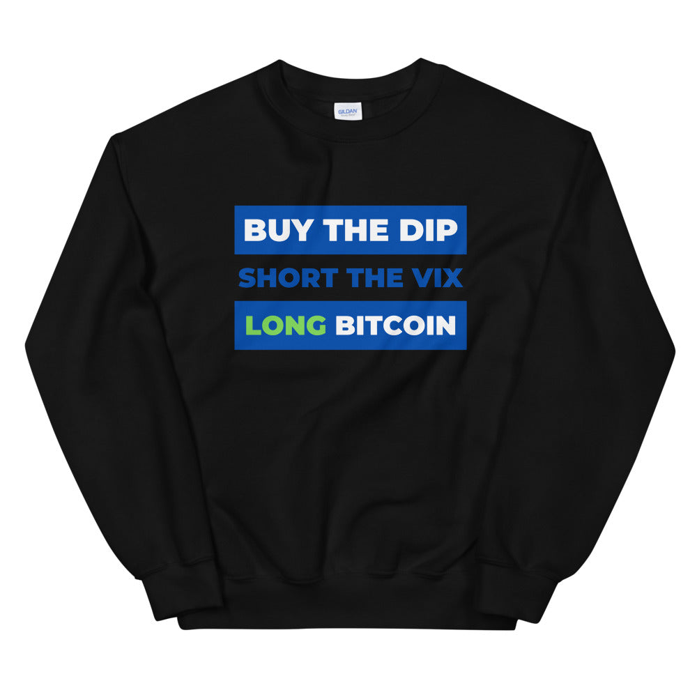Buy the Dip, Short VIX, Long Bitcoin Sweater