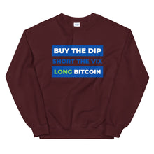 Load image into Gallery viewer, Buy the Dip, Short VIX, Long Bitcoin Sweater