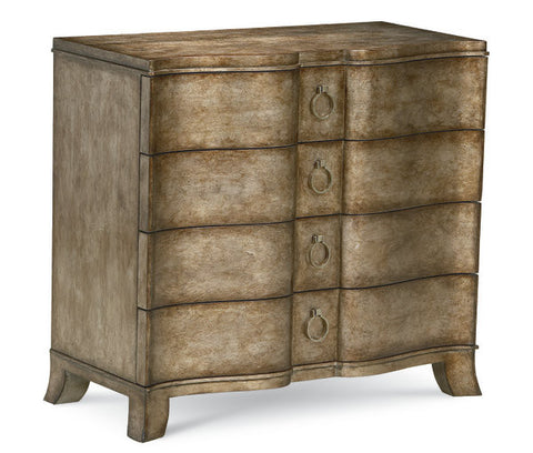 Eclectic Chest 4 drawers - Gold/Silver Faux Finish