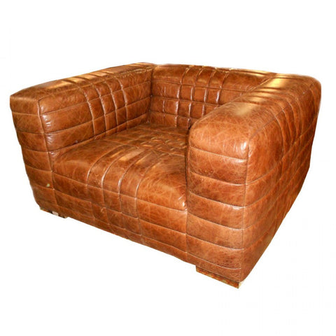 Leather Arm Chair with supple padding, serious relaxation...