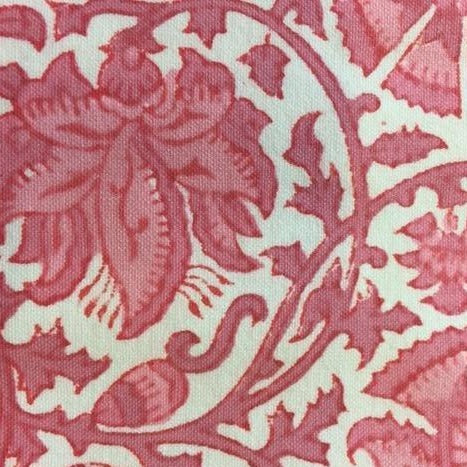 Woodblock Print - Pink & White